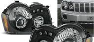 Kristalni farovi Angel Eyes Jeep Grand Cherokee WK (05-10) - crni