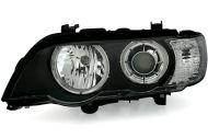 Кристални фарове BMW X5 E53 с фабричен ксенон (1999-2003) - черни