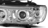 Кристални фарове  Angel Eyes BMW X5  (99-03) - хром