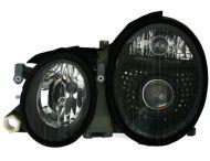 Kristalni farovi Mercedes CLK W208 (97-02) - crni