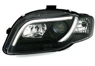 Kristalni farovi Light bar Design AUDI A4 b7 (2004-2008) - crni