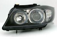 Kristalni farovi Angel Eyes BMW E90  (2005-2009) - crni