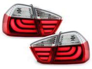 Kristalna LED štop svetla BMW E90 (05-08) - crvena / hrom