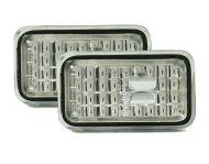 Кристални мигачи за калник - хром