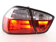 Kristalna LED štop svetla BMW E90 (03-07) - crvena / hrom