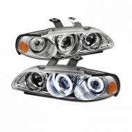 Kristalni farovi Angel Eyes HONDA CIVIC vrata (92-95) - хром