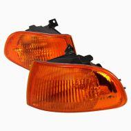 Кристални мигачи за хонда сивик 2/3 врати (92-95) - JDM оранжеви