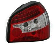 Kristalna LED štop svetla AUDI А3 (96-03) - crvena / hrom
