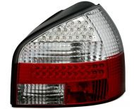 Kristalna LED štop svetla AUDI A3  (96-03) - crvena / hrom
