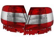 Kristalna štop svetla AUDI A4 (95-01) -  crvena / hrom