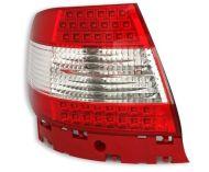Kristalna LED štop svetla AUDI A4 (95-01) - crvena / hrom