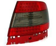 Kristalna LED štop svetla AUDI A4 (95-01) - crvena / zatamnjena