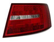 Kristalna LED štop svetla AUDI А6 4F (2004-2008) - crvena / hrom
