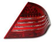 Kristalna LED štop svetla Mercedes C-CLASS W203 (04-07) - crvena / hrom