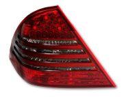 Kristalna LED štop svetla Mercedes C-CLASS W203 (04-07) - crvena / zatamnjena