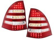 Kristalna LED štop svetla Mercedes C-CLASS W203 karavan (00-04) - crvena / hrom
