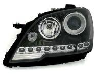 Kristalni LED farovi Mercedes ML W164  (08+) - crni