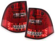 Kristalna LED štop svetla Mercedes ML W163  (98-06) - crvena / hrom