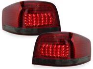 Kristalna LED štop svetla AUDI A3  (03-08) - crvena / zatamnjena