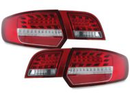 Kristalna LED štop svetla AUDI A3 sportback  (2003-2008) - crvena / hrom