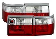 Kristalna štop svetla AUDI 80 B3 (86-91) - crvena / hrom