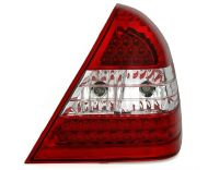 Kristalna LED štop svetla Mercedes C-CLASS W202 (93-01) - crvena / hrom