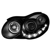 Kristalni LED farovi Mercedes CLK W209 / C209 (03-09) - crni