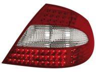 Kristalna LED štop svetla  Mercedes CLK W209 / C209 (06-09) - crvena / hrom