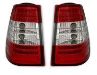 Kristalna LED štop svetla  Mercedes W124 karavan (84-95) - crvena / hrom