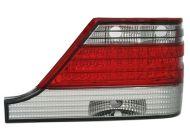 Kristalna LED štop svetla  Mercedes W140 (91-98) - crvena / hrom