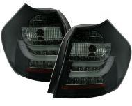 Диодни стопове със светловоди  BMW E87  (2004-2007) - черни