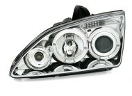 Kristalni farovi Angel Eyes FORD FOCUS (05-08) - hrom