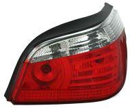 Kristalna LED štop svetla BMW E60 (03-07) - crvena / hrom