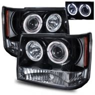 Kristalni farovi Angel Eyes Jeep Grand Cherokee ZJ (93-98) - crni