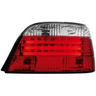 Kristalna LED štop svetla BMW E38  (94-01) - crvena / hrom