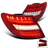 Kristalna LED štop svetla Mercedes C-CLASS W204 (07-11) - crvena / hrom