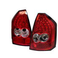 Kristalna LED štop svetla Chrysler 300C (04-08) - crvena