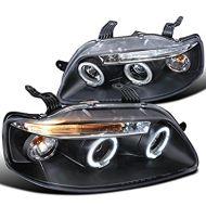 Кристални фарове Chevrolet Aveo (2003-2006) - черни