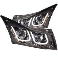 Кристални фарове Chevrolet Cruze (2009-2012) - черни