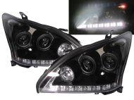 Kristalni farovi LED Devil Eyes LEXUS RX330 / 350 / 400 (2003-2008) - crni