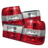 Kristalna štop svetla BMW E34  (89-95) - crveno / bela