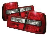 Kristalna LED štop svetla BMW E34  (89-95) - crvena / hrom