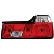 Kristalna štop svetla BMW E32  (86-94) - crvena / hrom