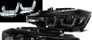 Kristalni farovi LED Angel Eyes BMW F30 (2011+) - crni za fabričke xenone