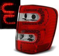 Kristalna LED štop svetla Jeep Grand Cherokee WJ (99-05)  - crvena / hrom