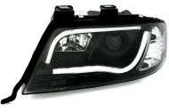 Kristalni farovi Light Bar Design A6 c5 (1997-2004) - crni