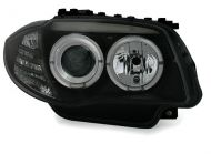 Kristalni farovi Angel Eyes BMW E87 / E81 (2004-2009) - crni