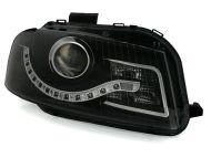 Kristalni farovi Day Line AUDI А3 (2003-2008) - crni