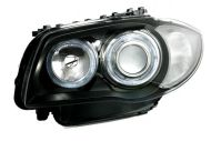 Kristalni farovi Angel Eyes BMW E87 (2004-2007) - crni