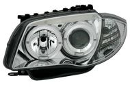 Kristalni farovi Angel Eyes BMW E87 / E81 (2004-2009) - hrom